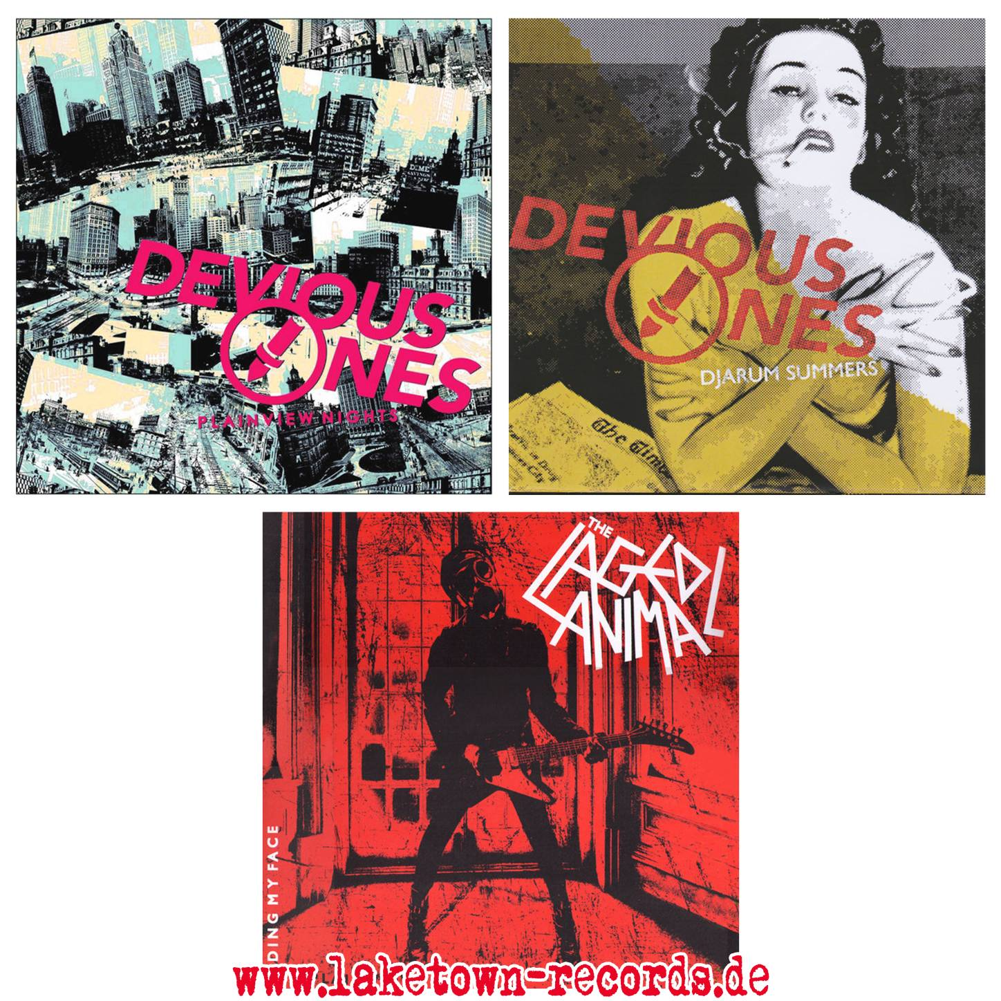 "DEVIOUS ONES (LP) - DEVIOUS ONES (7"") - THE CAGED ANIMAL (LP)"