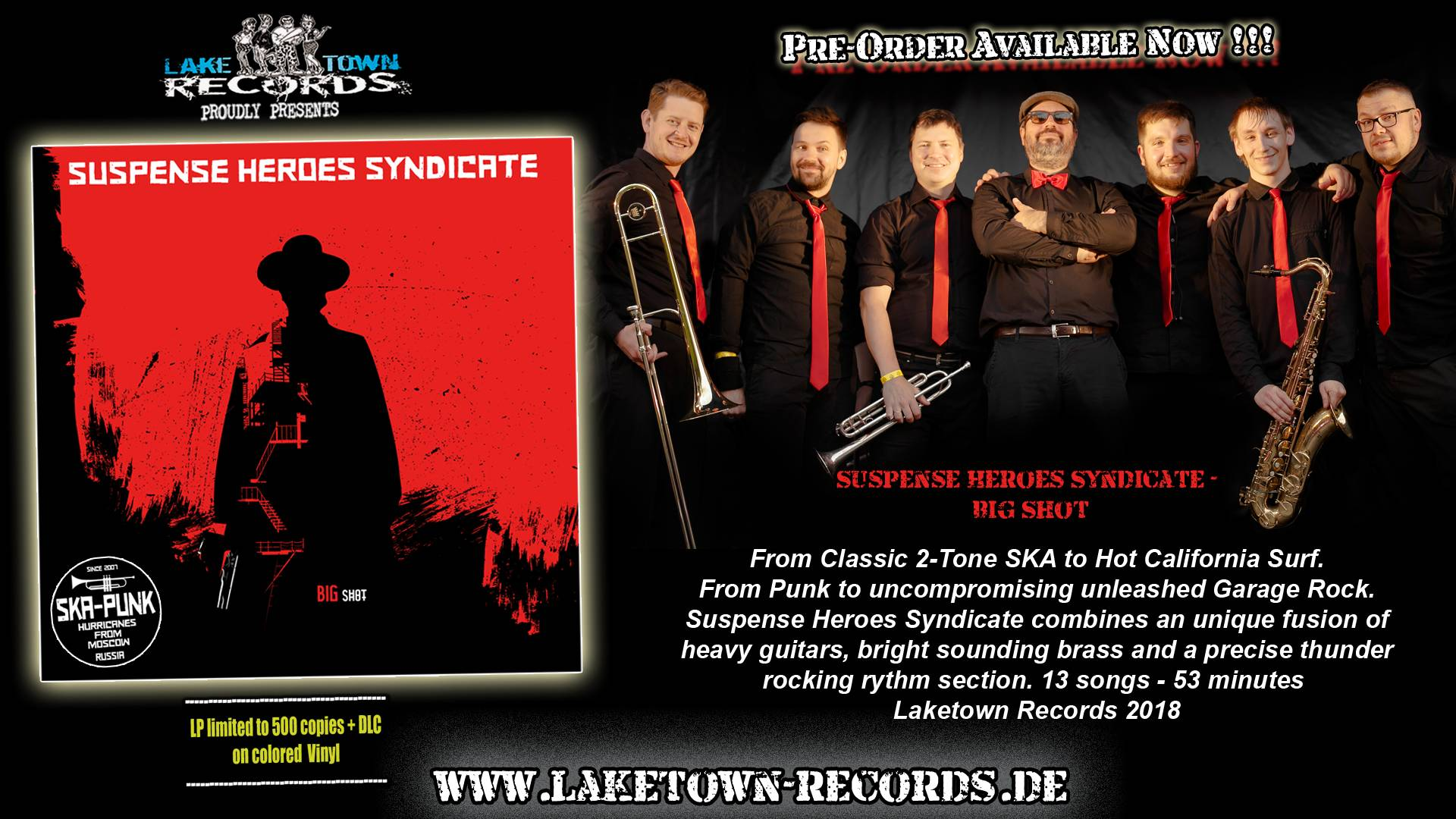 SUSPENSE HEROES SYNDICATE - BIG SHOT (LP) PRE-ORDER