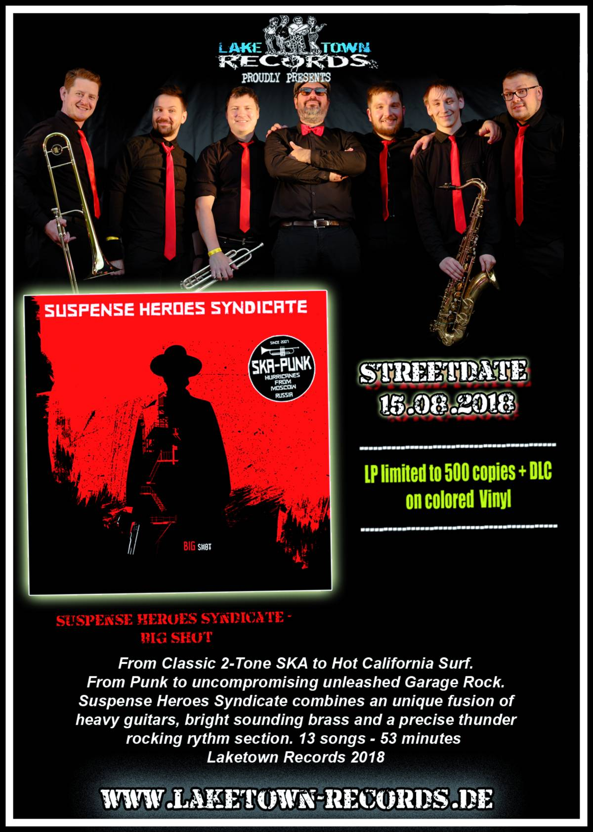 SUSPENSE HEROES SYNDICATE - BIG SHOT (LP) + DLC LIMITED COLORED VINYL