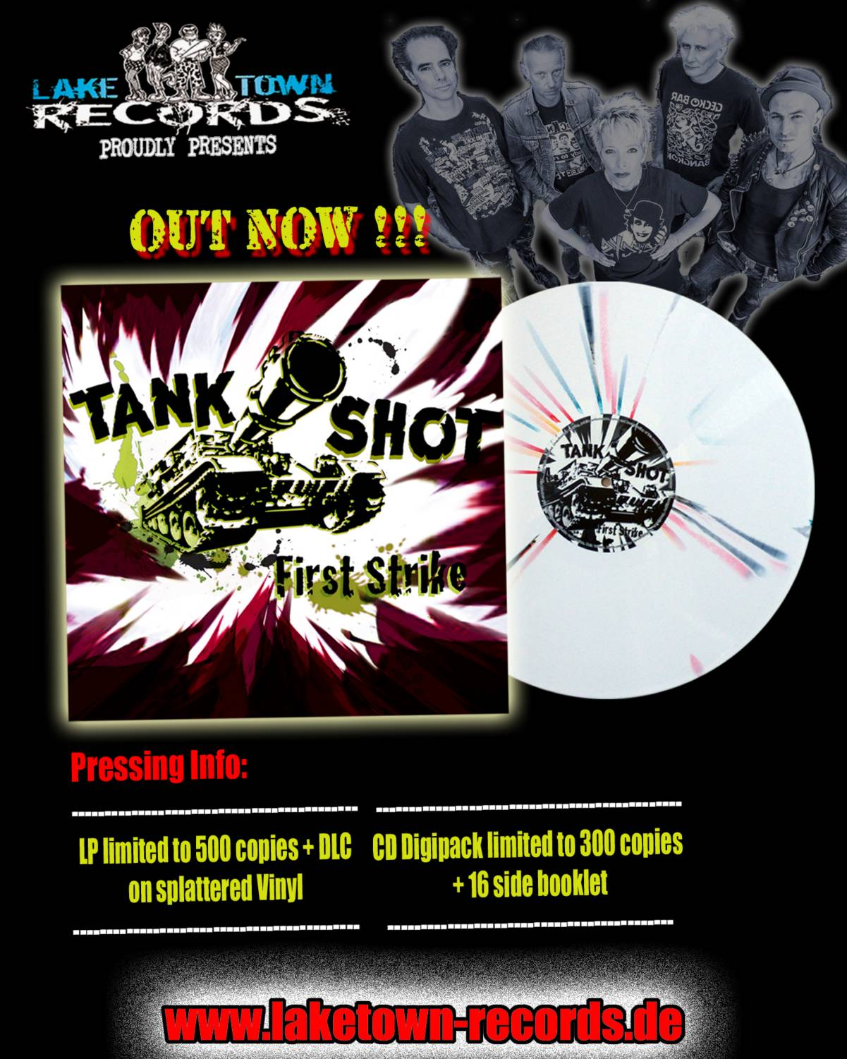 TANK SHOT -FIRST STRIKE (LP & CD DIGIPACK) OUT NOW !!!