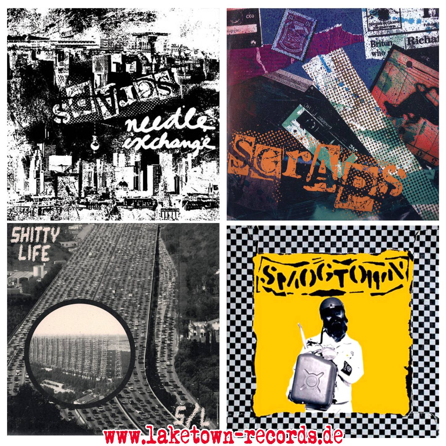 "SHITTY LIFE / NEEDLE EXCHANGE (SPLIT 7"") -  SCRAPS (7"") - SHITTY LIFE (7"") - SMOGTOWN (7"")"