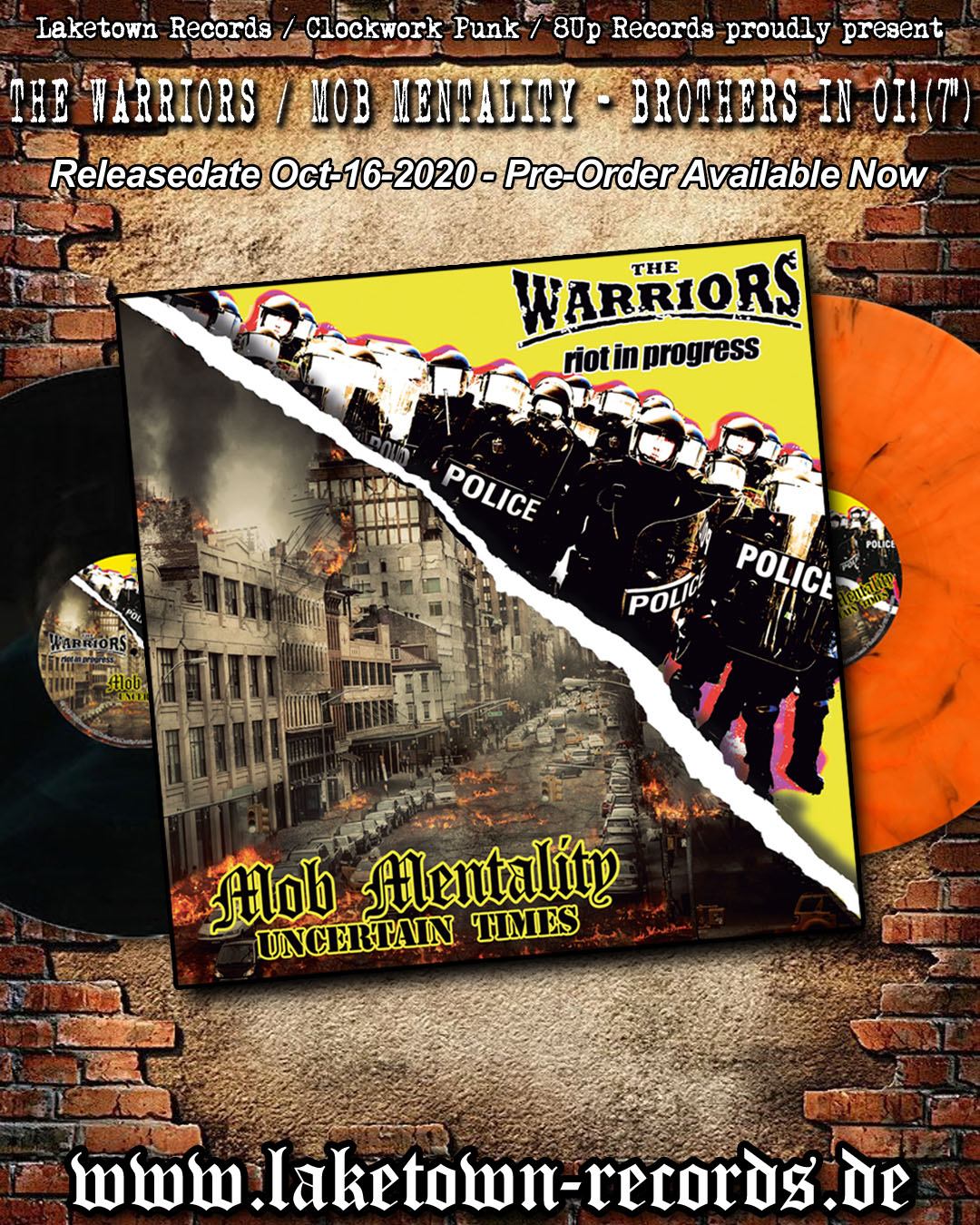 The Warriors / Mob Mentality - Brothers In Oi!